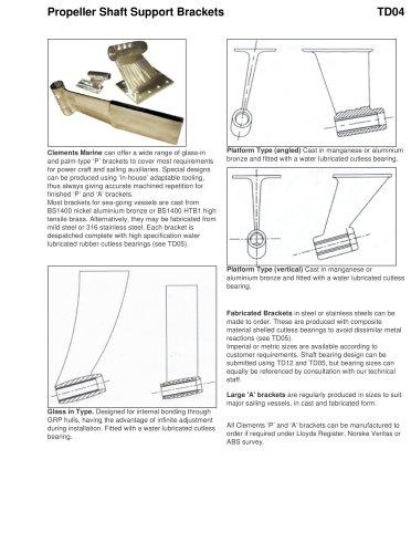 Propeller Shaft Support Brackets