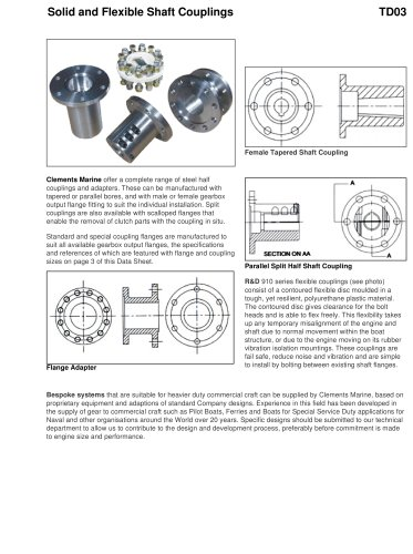 Solid and Flexible Shaft Couplings