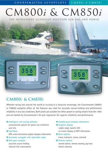 CM800i & CM850i - The Intelligent Autopilot Solution for Sail and Power