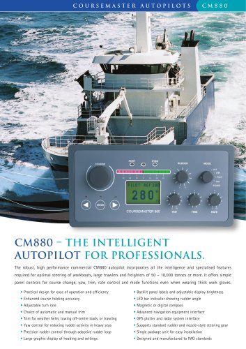 CM880 – The Intelligent Autopilot for Professionals