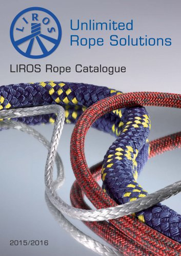 LIROS Rope Catalogue incl. XTReme 2015-2016