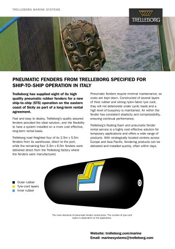 Case Study - Fender rental, ship to ship operation