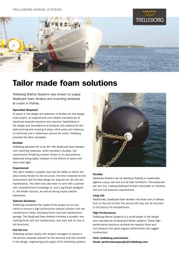 Case Study - Foam fender, Florida port