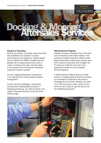 Datasheet - Docking & Mooring Aftersales Services