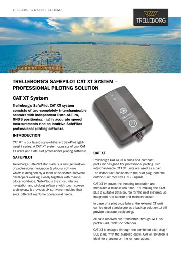 SafePilot CAT XT System