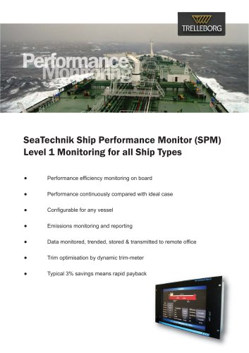 SeaTechnik Ship Performance Monitor (SPM)  Level 1 Monitoring for all Ship Types