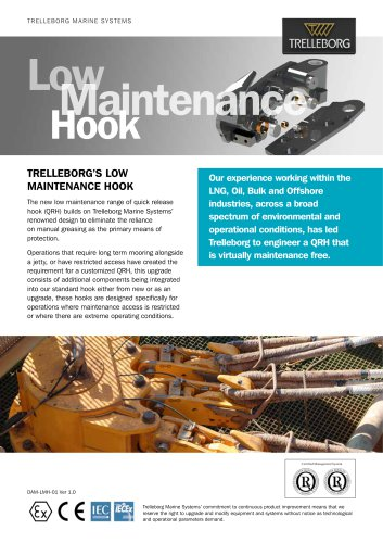 TRELLEBORG'S Low Maintenance Hook