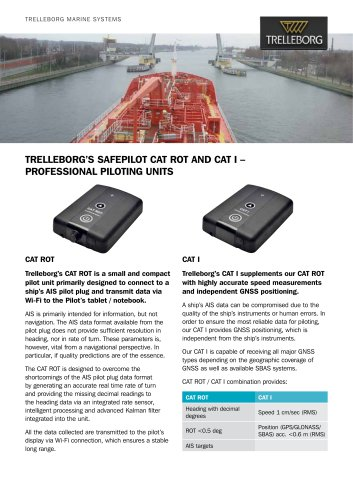 TRELLEBORG'S SAFEPILOT CAT ROT AND CAT I – Professional Piloting Un
