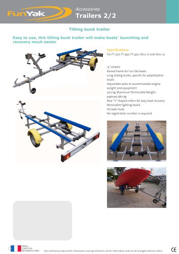 Tilting bunk trailer