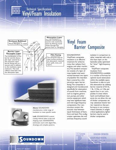 Vinyl foam insulation