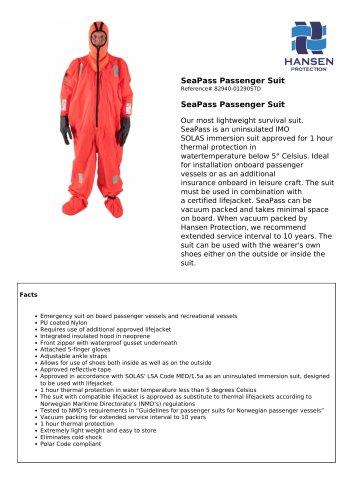 SeaPass Passenger Suit