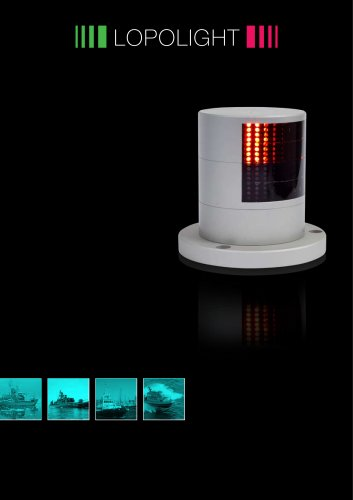 Lopolight LED Navigation lights specially for NAVY and SAR vessels