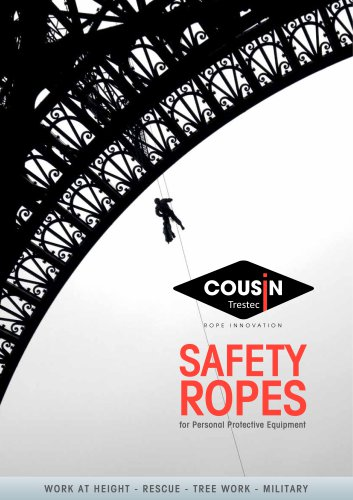Safety ropes for PPE catalog