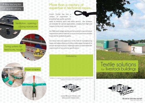 Solutions textiles en bâtiments d'élevage