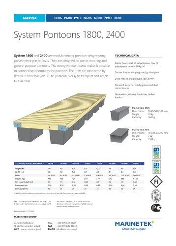 System Pontoons 1800, 2400