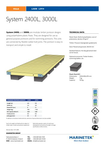 System Pontoons 2400L, 3000L