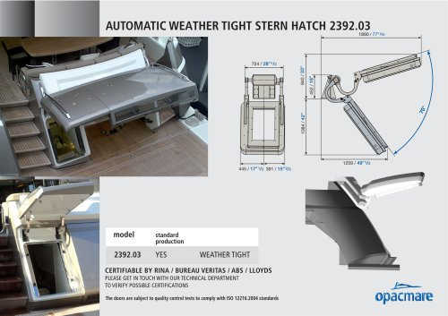 Automatic stern port model 2392.03