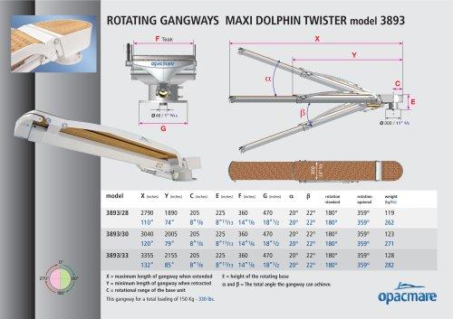 passerelle Maxi Dolphin Twister model 3893 in aluminium