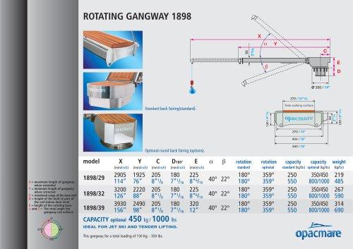 passerelle serie 1898 rotation 180°/359°