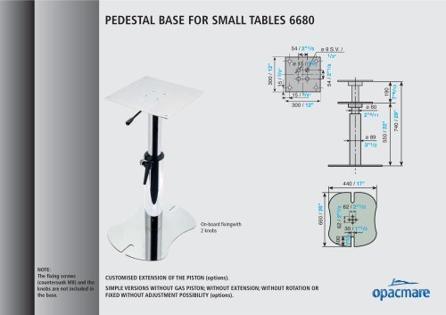 table bases model 6680