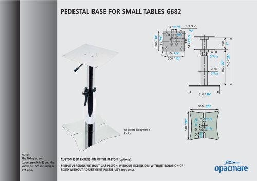 table bases model 6682