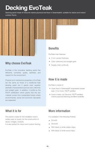 EvoTeak decking panels