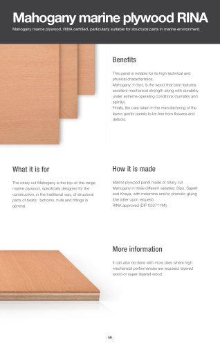 Mahogany marine plywood, RINA
