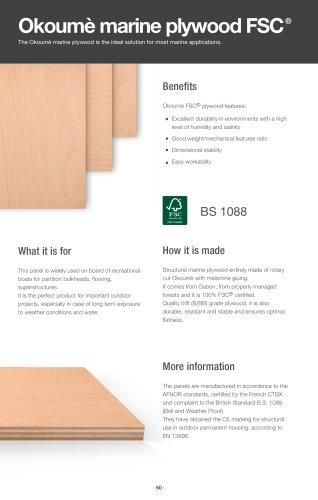 Okoumè marine plywood, FSC®
