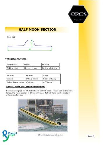 ORCA® Rubrail / Half Moon Section