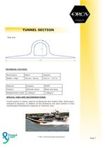 ORCA® Rubrail / Tunnel section