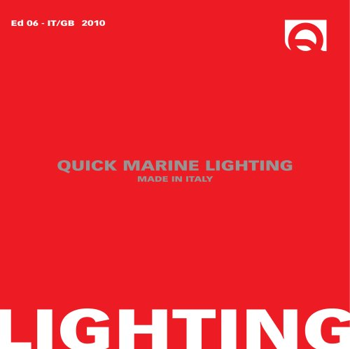 Quick Marine Lighting - 2010 - Edizione 6