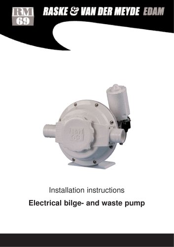 Electric bilge/waste pump