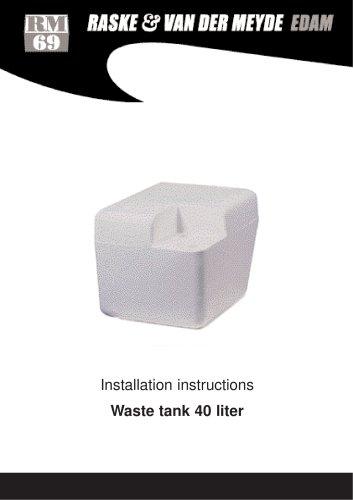 Waste holding tank 40 ltr.