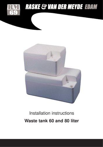 Waste holding tank 60/80 ltr.