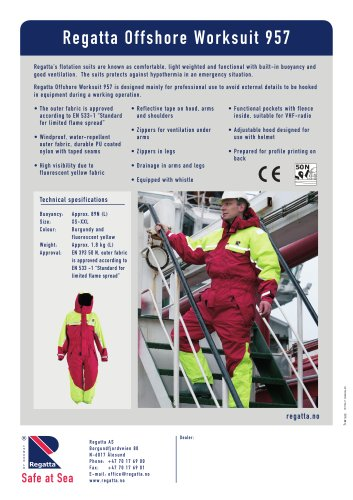 Flotation suits - Offshore 957