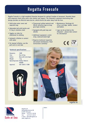 Inflatable lifejackets - Freesafe