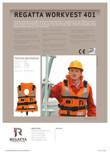 REGATTA WORKVEST 401