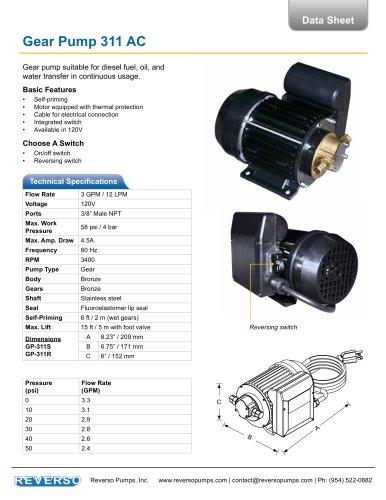 AC Gear Pump 311 Series