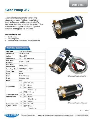DC Gear Pump 312 Series