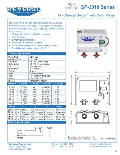 DC Oil Change System 3010 Series