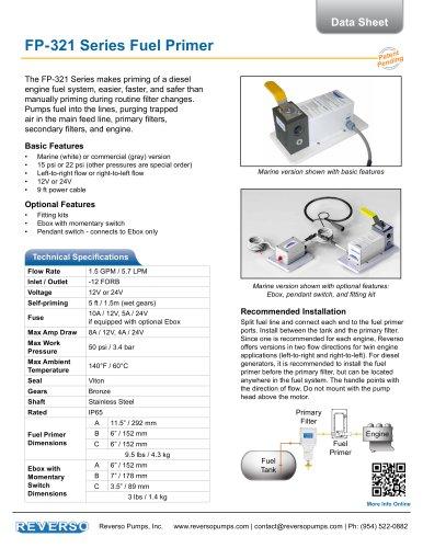 Fuel Primer 321 Series