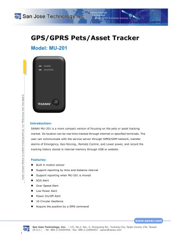 GPS/GPRS Pets/Asset Tracker