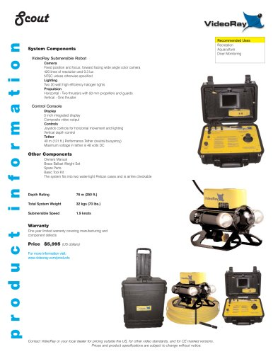 VideoRay Product Catalogue