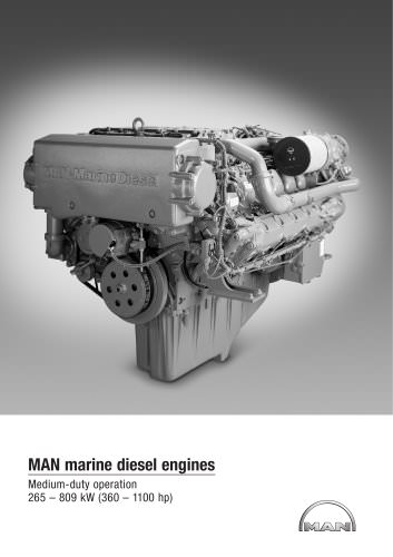 Main marine engines: Medium duty