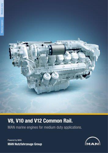 Marine engine V8-V10-V12 - medium duty