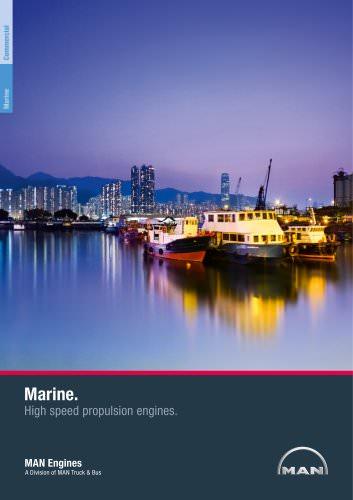 Marine. High speed propulsion engines