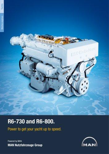 Yacht R6-730/800 LD engine