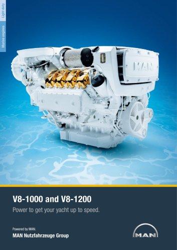 Yacht V8-1000/1200 LD engine