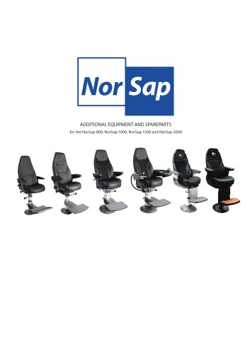 NorSap Extra Equipment and spare part Catalogue
