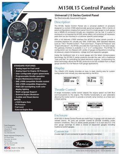 M150L15 Control Panels